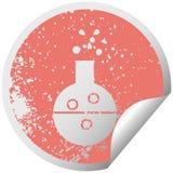 στενοχωρημένος κυκλικός σωλήνας χημείας συμβόλων αυτοκόλλητων ετικεττών αποφλοίωσης απεικόνιση αποθεμάτων