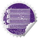 στενοχωρημένος κυκλικός σωρός συμβόλων αυτοκόλλητων ετικεττών αποφλοίωσης των βιβλίων διανυσματική απεικόνιση