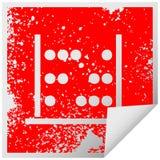 στενοχωρημένος τετραγωνικός άβακας μαθηματικών συμβόλων αυτοκόλλητων ετικεττών αποφλοίωσης απεικόνιση αποθεμάτων