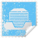 στενοχωρημένος τετραγωνικός σωρός συμβόλων αυτοκόλλητων ετικεττών αποφλοίωσης των εγγράφων γραφείων διανυσματική απεικόνιση