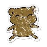 στενοχωρημένος χαριτωμένος teddy kawaii κινούμενων σχεδίων αυτοκόλλητων ετικεττών αντέχει ελεύθερη απεικόνιση δικαιώματος
