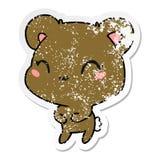 στενοχωρημένος χαριτωμένος teddy kawaii κινούμενων σχεδίων αυτοκόλλητων ετικεττών αντέχει απεικόνιση αποθεμάτων