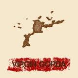 Στενοχωρημένος Gorda χάρτης της Virgin ελεύθερη απεικόνιση δικαιώματος