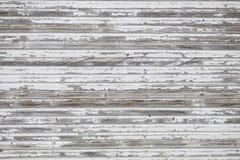 Στενοχωρημένο άσπρο ξύλινο σκηνικό ή Floordrop τοίχων για τους φωτογράφους Στοκ Φωτογραφία
