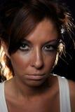 Στενοχωρημένο πορτρέτο γυναικών Στοκ εικόνες με δικαίωμα ελεύθερης χρήσης