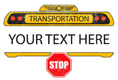 Στενοχωρημένο σχέδιο μπλουζών σχολικών λεωφορείων διανυσματικό Στοκ Εικόνες