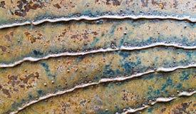 Στενοχωρημένο σύσταση μέταλλο υποβάθρου με τις παράλληλες γραμμές Στοκ εικόνα με δικαίωμα ελεύθερης χρήσης