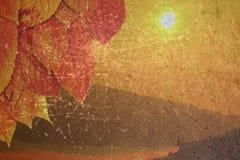 Στενοχωρημένο υπόβαθρο φθινοπώρου Στοκ εικόνα με δικαίωμα ελεύθερης χρήσης