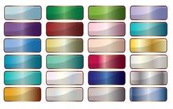 Στενόμακρες βάσεις κουμπιών Ιστού στο μέταλλο πέρα από το λευκό ελεύθερη απεικόνιση δικαιώματος