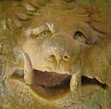 Στενός ένας επάνω ενός τραγελαφικού χαρασμένου προσώπου πετρών στοκ φωτογραφία με δικαίωμα ελεύθερης χρήσης