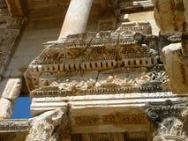 Στενός επάνω βιβλιοθήκης της Τουρκίας Ephesus Στοκ φωτογραφίες με δικαίωμα ελεύθερης χρήσης