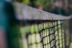 Στενός επάνω γηπέδων αντισφαίρισης καθαρού στοκ εικόνες