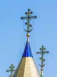 Στενός επάνω θόλων καθεδρικών ναών από την εκκλησία Στοκ φωτογραφία με δικαίωμα ελεύθερης χρήσης