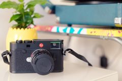 Στενός επάνω καμερών Leica m10 Στοκ φωτογραφία με δικαίωμα ελεύθερης χρήσης