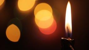 Στενός επάνω κεριών - γρήγορα φω'τα Blining απόθεμα βίντεο