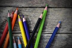 Στενός επάνω κραγιονιών μολυβιών Στοκ φωτογραφίες με δικαίωμα ελεύθερης χρήσης