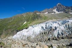 Στενός επάνω παγετώνων Argentiere Στοκ εικόνες με δικαίωμα ελεύθερης χρήσης