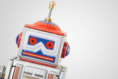 Στενός επάνω παιχνιδιών ρομπότ εκλεκτής ποιότητας Στοκ Εικόνες