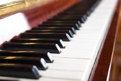 Στενός επάνω πιάνων, χειροκροτήματα πιάνων Υπόβαθρο Στοκ Εικόνες
