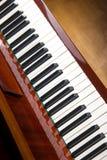 Στενός επάνω πιάνων, χειροκροτήματα πιάνων Υπόβαθρο Στοκ Φωτογραφίες