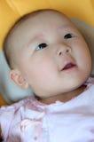 Στενός επάνω προσώπου ενός χαριτωμένου μωρού Στοκ φωτογραφίες με δικαίωμα ελεύθερης χρήσης