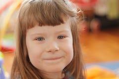 Στενός επάνω προσώπου μικρών κοριτσιών Στοκ Εικόνες