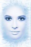 Στενός επάνω προσώπου χιόνι-βασίλισσας Στοκ φωτογραφία με δικαίωμα ελεύθερης χρήσης