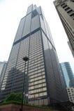 Στενός επάνω πύργων Willis (πύργος αγκραφών) στο στο κέντρο της πόλης Σικάγο Το 2$ο πιό ψηλό κτήριο στις ΗΠΑ Στοκ Φωτογραφίες