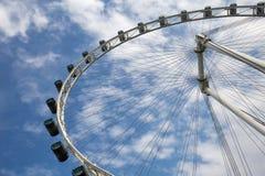 Στενός επάνω ροδών Ferris στοκ εικόνα