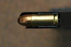 στενός επάνω σφαιρών 9mm caliber στοκ εικόνα