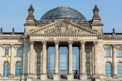 Στενός επάνω του Βερολίνου Reichstag Στοκ Φωτογραφία