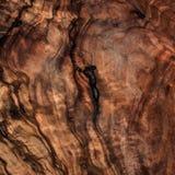 Στενός επάνω υποβάθρου σύστασης ελιών ξύλινος καφετής Εκλεκτής ποιότητας ξύλινη ΤΣΕ Στοκ Φωτογραφίες