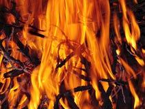 στενός επάνω φωτιών Στοκ Φωτογραφίες