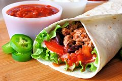 Στενός επάνω Burrito Στοκ Εικόνα