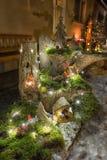 στενός κόκκινος χρόνος Χριστουγέννων ανασκόπησης επάνω Στοκ Φωτογραφία