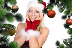 στενός κόκκινος χρόνος Χριστουγέννων ανασκόπησης επάνω Στοκ φωτογραφία με δικαίωμα ελεύθερης χρήσης