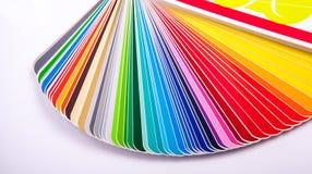 στενός οδηγός χρώματος καρτών επάνω Στοκ εικόνα με δικαίωμα ελεύθερης χρήσης