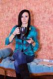στενός πίνοντας έφηβος κα&ph Στοκ φωτογραφία με δικαίωμα ελεύθερης χρήσης