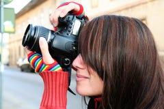 στενός φωτογράφος επάνω σ Στοκ φωτογραφία με δικαίωμα ελεύθερης χρήσης