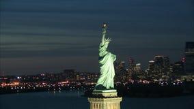 στενό άγαλμα ελευθερίας επάνω απόθεμα βίντεο
