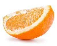 στενό απομονωμένο πορτοκαλί λευκό φετών ανασκόπησης επάνω Στοκ Φωτογραφία