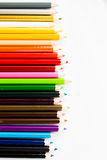 στενό απομονωμένο χρώμα λευκό μολυβιών ανασκόπησης επάνω στοκ φωτογραφίες