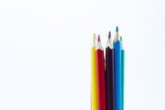 στενό απομονωμένο χρώμα λευκό μολυβιών ανασκόπησης επάνω Στοκ εικόνες με δικαίωμα ελεύθερης χρήσης