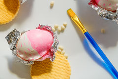 στενό αυγό Πάσχας επάνω Στοκ φωτογραφία με δικαίωμα ελεύθερης χρήσης