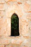 Στενό γοτθικό παράθυρο Στοκ Εικόνες