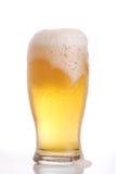 στενό γυαλί μπύρας επάνω στοκ φωτογραφίες