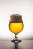 στενό γυαλί μπύρας επάνω Στοκ Εικόνες
