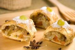 στενό δευτερεύον strudel μήλων &e στοκ φωτογραφία με δικαίωμα ελεύθερης χρήσης