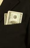 στενό δολάριο επιχειρηματιών τραπεζογραμματίων επάνω Στοκ Εικόνες