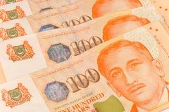 στενό δολάριο καλυμμένη σημειώσεις Σινγκαπούρη επάνω Στοκ εικόνα με δικαίωμα ελεύθερης χρήσης